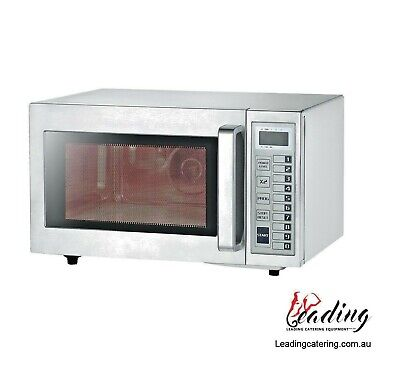 Commercial Microwave Oven 1000 Watt No Turntable Cafe Restaurant Take Away