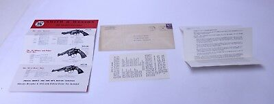 Nice Vintage Smith & Wesson Mailed Circular Letter From Factory Price List