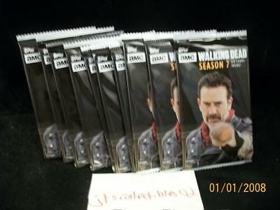 2017 Topps Walking Dead Seaon 7 lot of 10 Sealed Retail Packs Auto or Sketch?