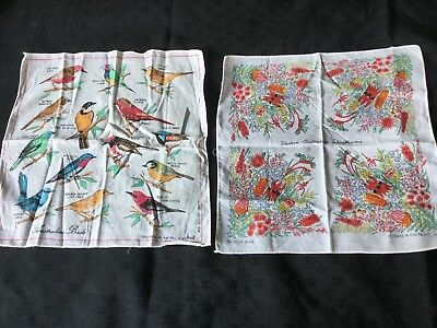 2 Vintage Women's or kids Hankerchief's made In Australia by Heil.
