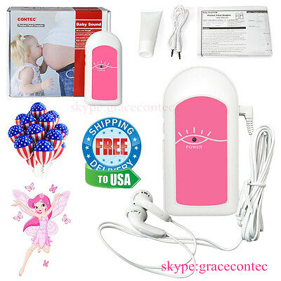 baby sound hand held Pocket Fetal Doppler Heart Rate pregnant women USA FDA
