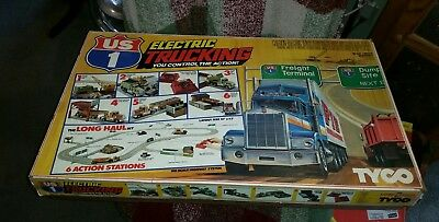 Vintage Tyco Us 1 Electric Trucking Long Haul Set Slot Car/ Truck  **nice**