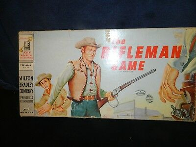 1959 Vintage Rare The Rifleman Board Game Old West Cowboy Western Gc