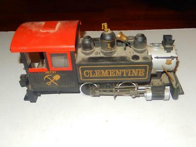 Bachmann  - G Scale- Clementine -0-4-0 Steam Loco - Runs Fine- Needs Parts- S14