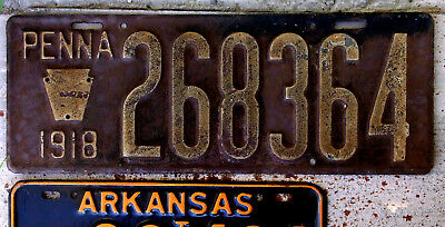 1918 Pennsylvania License Plate