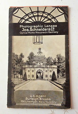 Jos Schneider & Co Optical Works Vintage Old Early Photographic Lenses Book