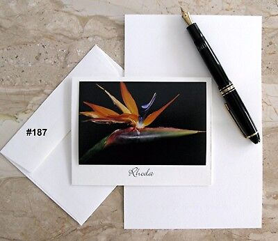 6 Personalized Note Cards With Detachable Flower Photos-#187 #21 #101