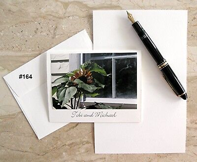 6 Personalized Note Cards With Flower Photos #164-191-192