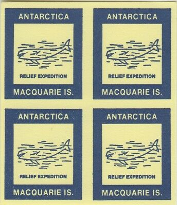 Stamps AAT Antarctic Macquarie Island relief expedition cinderella whales block