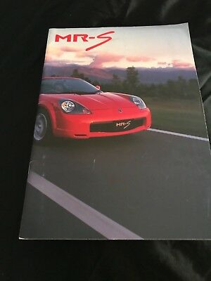 Toyota Mr 2 Spyder Japanese Brochure