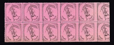 USA STAMP  BOYD'S DISPATCH PINK STAMP MNH/OG Blk of 10
