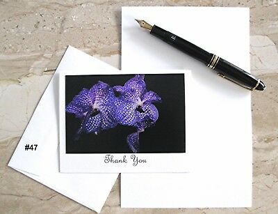 6 Personalized  Note Cards With Orchid Photos  #26 #44 #47
