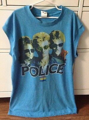 Vintage The Police Band Synchronicity 1983 North America Tour Sleeveless Tshirt