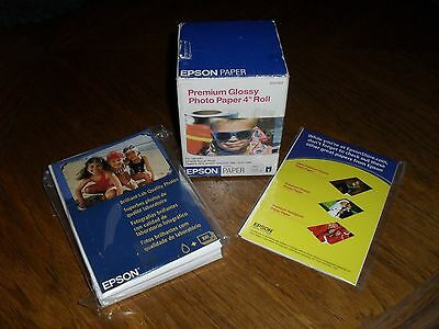 """Lot of Epson Glossy Photo Paper = to  122 sheets  4"""" X 6"""""""