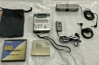 SONY MZ-B100 Silver Only Body & Adapter Discontinued Item Used F/S from Japan