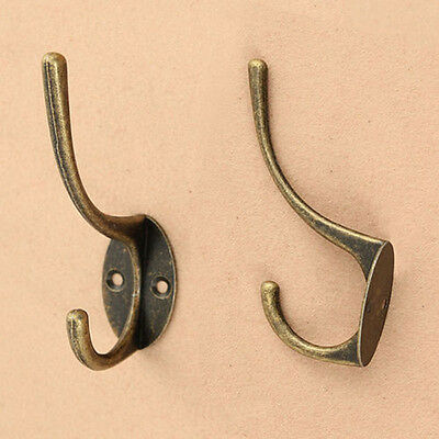 1pc Vintage Antique Metal Wall Door Hanger Hook for Hat Coat Clothes Towel Robe