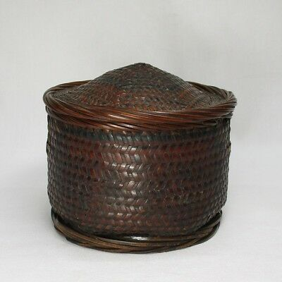 A203: REAL Chinese old weaving bamboo basket as TEIRAN with fantastic taste