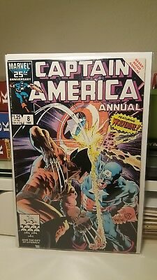 Captain America Annual #8.     (Vf)    ~Featuring Wolverine~    1St Print.  1986