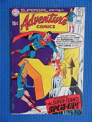 Adventure Comics # 382 - (Fine) -  Neal Adams Cover, Superman, Supergirl