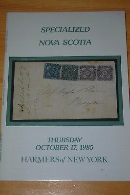 "Weeda Literature: Harmers ""Specialized Nova Scotia"" 1985 auction catalogue, VF"