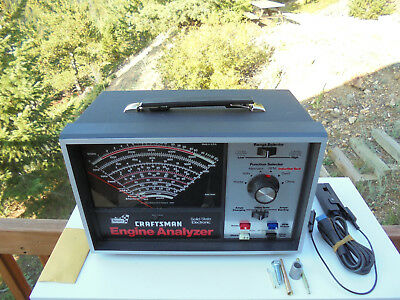 Vtg SEARS CRAFTSMAN Professional Quality Engine Analyzer 28 21040 New w/Box