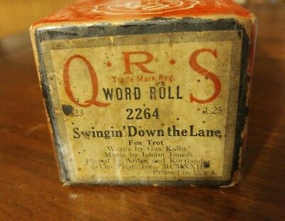 "Vintage QRS 2264 Piano Roll ""Swingin Down the Lane"" Victor Arden Max Kortlander"