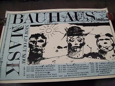 "BAUHAUS ""MASK"" ORIGINAL SUBWAY PROMO CONCERT POSTER 61 x 41"" 1980s GOTH ROCK ETC"