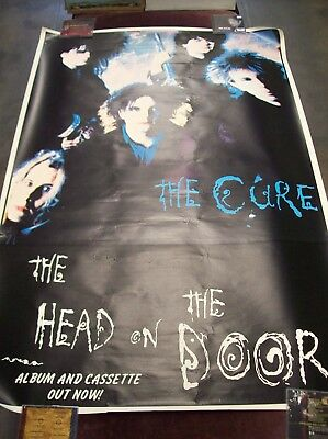 "THE CURE ""THE HEAD ON THE DOOR"" ORIGINAL SUBWAY PROMO POSTER 41 x 61"" 1985 GOTH"