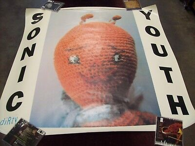 "SONIC YOUTH ""DIRTY"" DGC ORIGINAL PROMO POSTER 40 x 40"" 1991 USA INDIE ROCK ETC"
