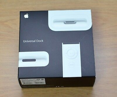 Apple iPod 30 Pin Universal Dock MB125G/A White Genuine Apple Dock