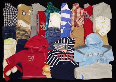 Baby Boys 27 pc. 3/6 Mos. Fall Winter Clothes Outfits Lot Free Ship!