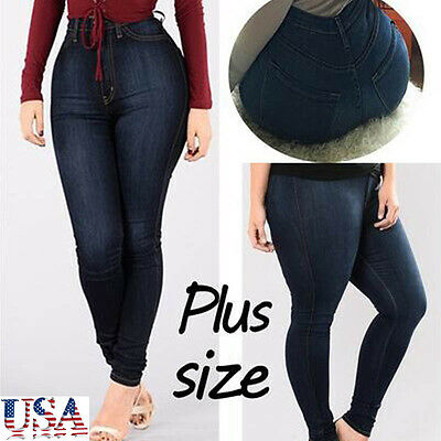 Women Fashion Slim Fit Seamless Jeggings Colors Stretch Pants Plus Size L to 5XL