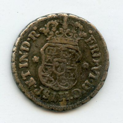 Weeda Mexico 1752 1/2 real, KM #67, .917 silver, see scans