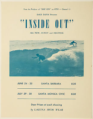 1965 Surf Movie Poster – INSIDE OUT – Dale Davis