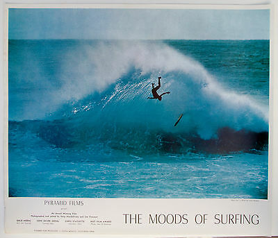 1968 THE MOODS OF SURFING Surf Movie Poster - MacGillivray -  LeRoy Grannis