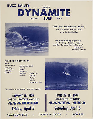 1962 Surf Movie Poster – DYNAMITE – Buzz Bailey