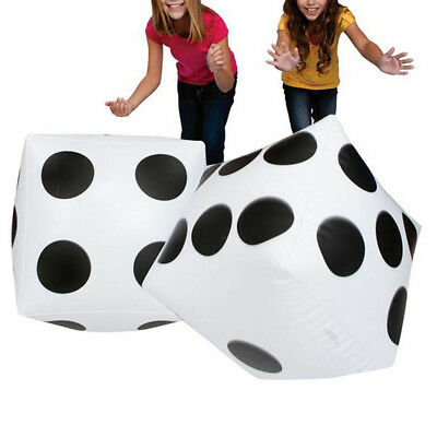 "2pcs Giant Inflatable Blow-up Dot Dice 16"" Children Party Fashion Kids Toy Funny"