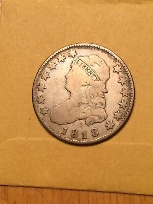 1818 Capped bust Quarter Very good