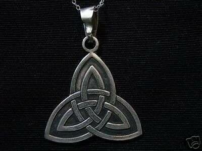 COOL New CELTIC TRIQUETRA Genuine Sterling Silver .925 CHARMED PENDANT Charm Jew