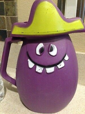 Vintage 1970's Kool Aid Goofy Grape Funny Face Pitcher Hard to Find Retro