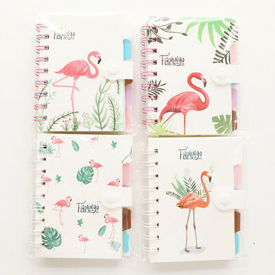 Cartoon Spiral Bound Notebook Lined/Ruled Paper-Flamingo