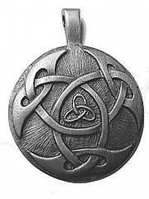 COOL CELTIC TRIQUETRA Infinity knot Silver pendant Charmed