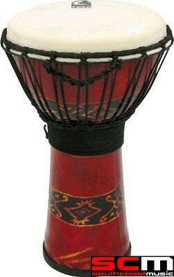 "Toca TOCSFDJ10RP 10"" Rope Djembe Bali Red Freestyle Djembe Percussion Hand Drum"