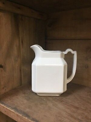 Vintage White Ironstone China Pitcher H Alcock England