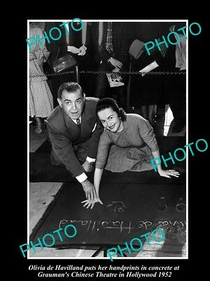 Old Large Historic Photo Of Olivia De Havilland Honored At Graumans Theater 1952
