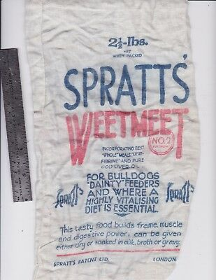 SPRATT'S WEETMEET No,2  dog food bag
