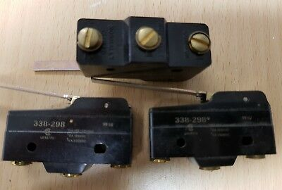 Lot of 3 Pieces of 338-298  MICROSWITCH . Tracked postage.