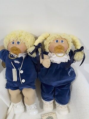 TWINS Cabbage Patch KIDS,BOY And Girl, removed from box ,with birth certificates