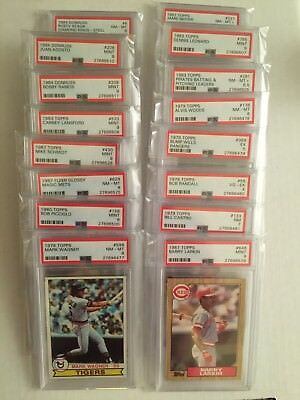 Lot of 16 Various Graded PSA Cards Superstars/HOF/Vintage/Commons Free Shipping