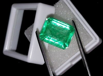 Elegant Square Shape 7.72 Ct Natural Certified Colombian Emerald